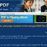 Is there a way to add page number to the merged PDF file by using A-PDF Merger?