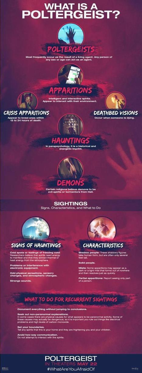 Infographie pour tout savoir sur le phénomène des Poltergeist : Identification et suggestions sur les choses à faire en cas de problèmes | Choose Steampunk | Scoop.it