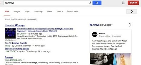 Google Search adds support for hashtags, pulls related info from Google+ | News in Social Networks | Scoop.it