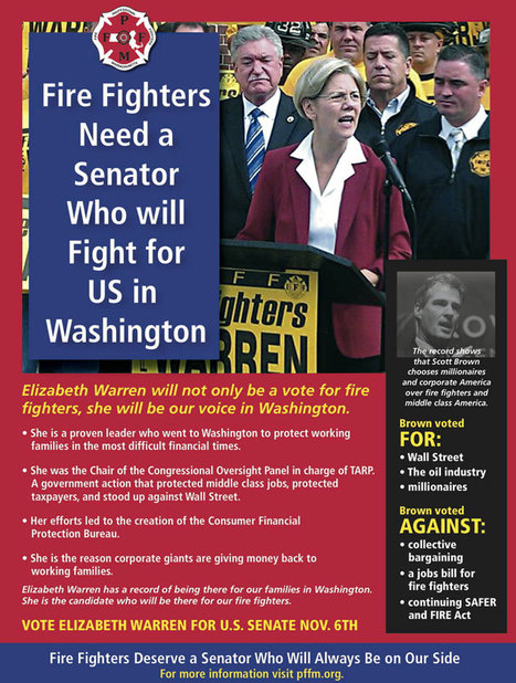 photo: We support those who support us! @THE_PFFM supports @elizabethforma! #FFforWarren | Massachusetts Senate Race 2012 | Scoop.it