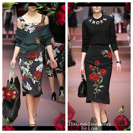 Italian Summers, by Lisa | Roses are red… Shop the Dolce&Gabbana Runway looks | Italian Inspiration | Scoop.it