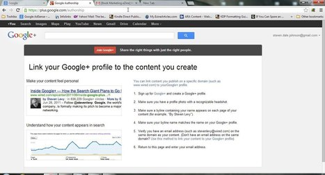 Link your Google+ profile to content you create! | Digital Publishing Spotlight | Scoop.it