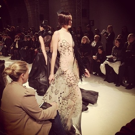 .@fashionbaggage   Blk and white with sheer overlay was the theme at Julien Fournie couture #cou...   Julien Fournié   Scoop.it