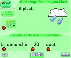Whiteboard Date & Weather Display - French | Language teaching web2 tools | Scoop.it