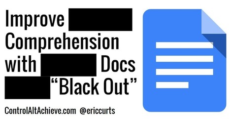 "Improve Reading Comprehension with Google Docs ""Black Out"" 