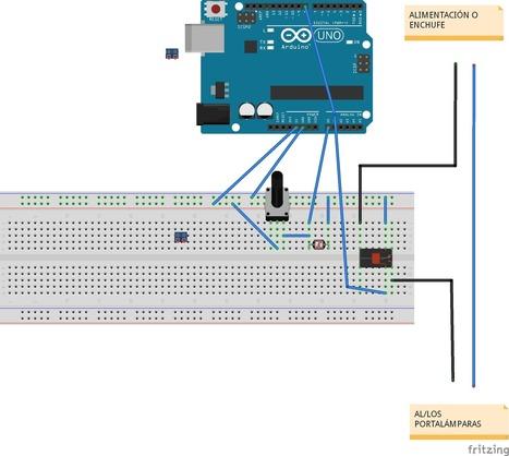 Sistema automático de iluminación mediante LDR y relés con Arduino. | Teknologia Hezkuntzan | Scoop.it