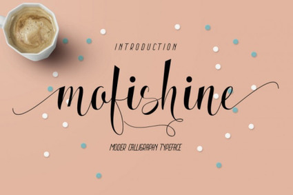 FREE FONT | Mofishine Script font  *this week only | Design Freebies & Deals | Scoop.it