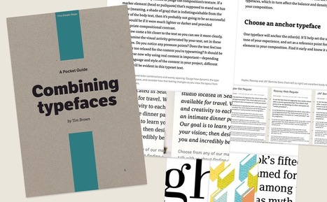 Combining Typefaces: free guide to great typography | D_sign | Scoop.it