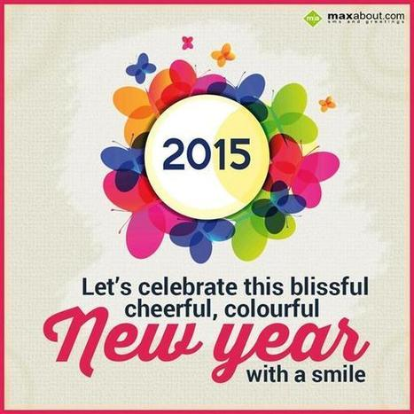 lets celebrate this blissful cheerful colourful new year greetings