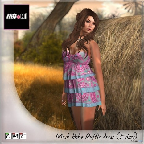 Boho Ruffle Dress Teleport Hub Group Gift by MOoH! | Teleport Hub - Second Life Freebies | Second Life Freebies | Scoop.it