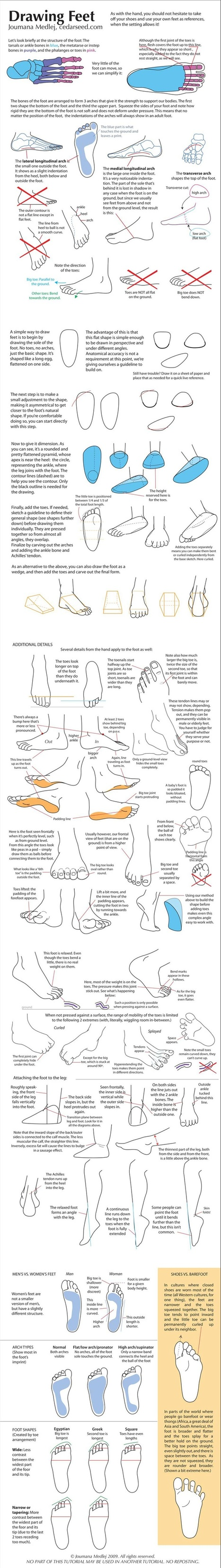 Feet Drawing Reference Guide | Circolo d'Arti | Scoop.it