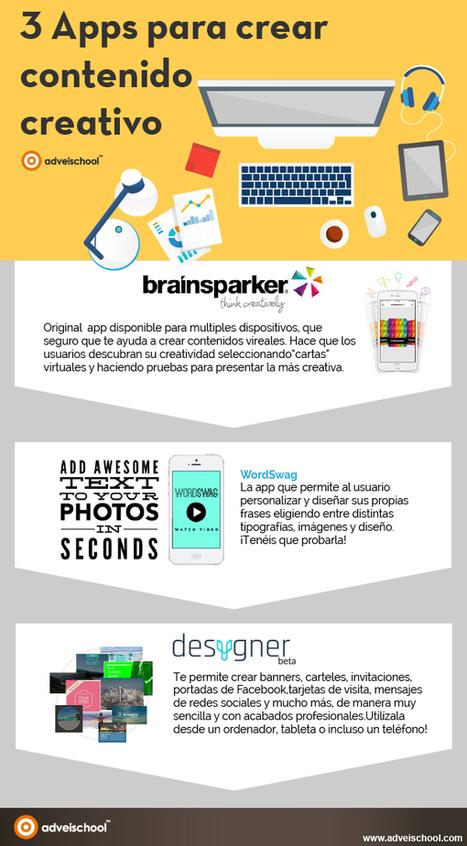3 APPs para crear contenido creativo #infografia #infographic #design | Recursos TIC | Scoop.it
