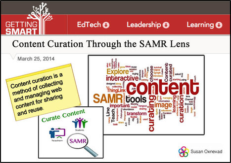 Content Curation Through the SAMR Lens | 21st Century Technology Integration | Scoop.it