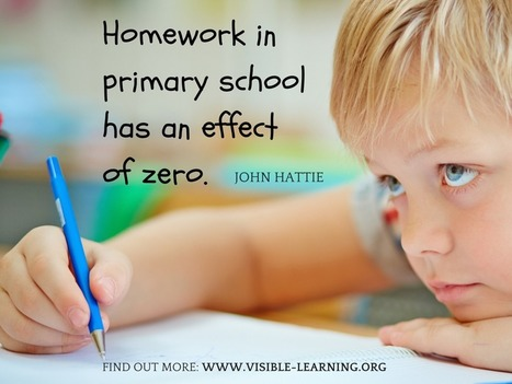 """Homework in primary school has an effect of zero"" (J. Hattie) 