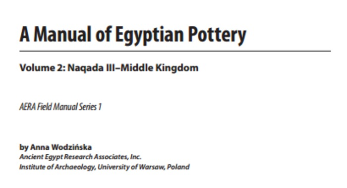 (EN) (PDF) - A Manual of Egyptian Pottery | Anna Wodzińska | Glossarissimo! | Scoop.it