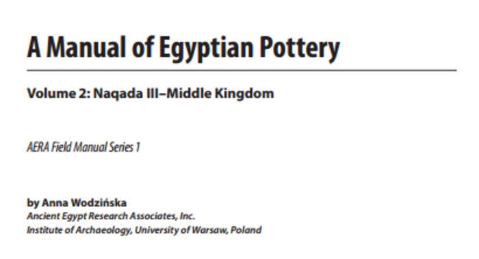 (EN) (PDF) - A Manual of Egyptian Pottery | Anna Wodzińska | Glossarissimo! | Scoop.it