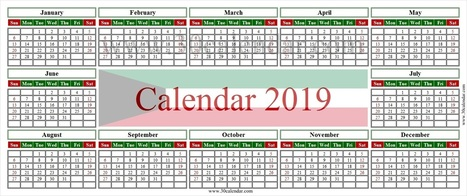 calendar 2019 kuwait printable january 2019 calendar