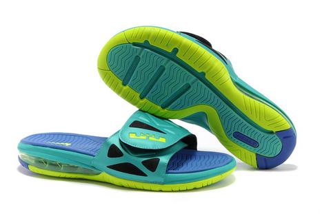 Mens Air LeBron 2 Elite Slide Sandals Nike Shoes Sport Turquoise  15273  -   79.99 b29b4ab1f