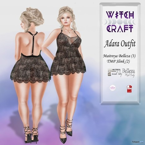 b7d7bbf308 Adara Dress Teleport Hub Group Gift by Witch Craft   Garden of Shadows May  2018