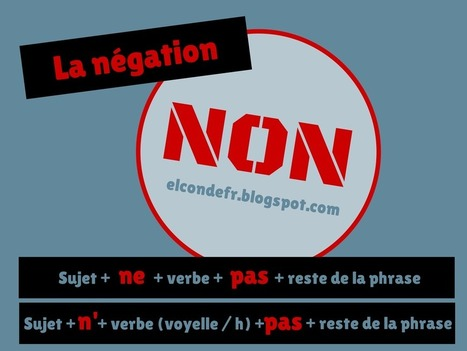 La négation en français | More FLE | Scoop.it