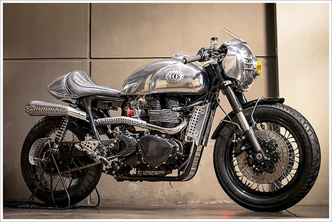 2008 Triumph Thruxton - 'Steampunk Racer' by BCR | Social Experiments | Scoop.it