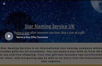 Clearly Visible Star From Star Naming Service Uk