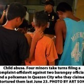 Four minors accuse barangay exec of torture | The Fight Against Torture | Scoop.it