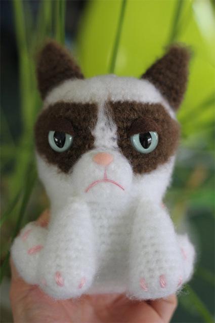 Tardar Sauce the Grumpy Cat Amigurumi Doll | Geeky Creations | Scoop.it