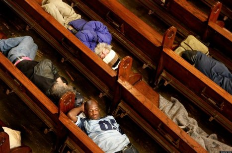 PHOTOS: Most Benevolent Church Ever Lets Homeless Sleep In Pews | It's Show Prep for Radio | Scoop.it
