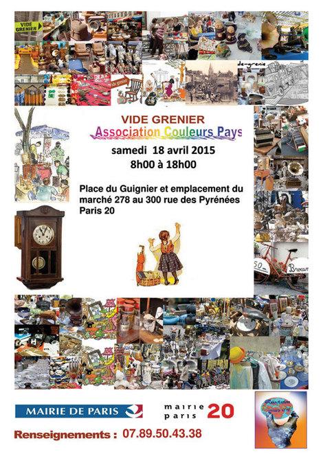 Vide-grenier place du Guignier et rue des Pyrénées   Paris Est Villages c448b8df8e3