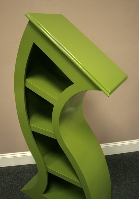 Handmade Curved Bookshelf for Your Quirky Books - GalleyCat | Writing for Social Media | Scoop.it