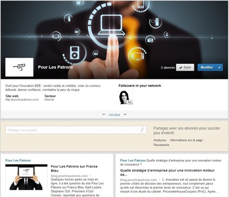 LinkedIn en B2B : pourquoi créer une page vitrine ? | Communication B To B | Scoop.it
