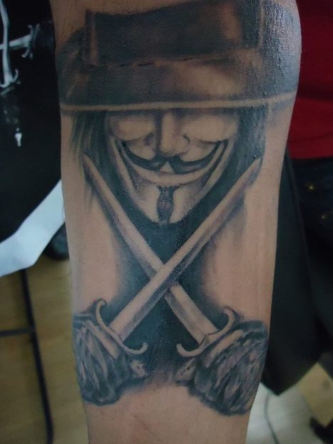 V For Vendetta In Tattoo Scoop It