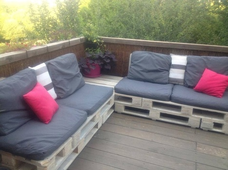 canap de terrasse pallet terrace sofa. Black Bedroom Furniture Sets. Home Design Ideas