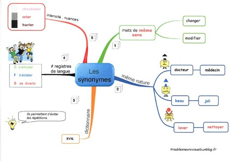 les synonymes carte mentale mind mapping p. Black Bedroom Furniture Sets. Home Design Ideas