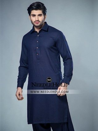 2c8dee7215 Marvelous Pakistani salwar kameez suit for men in navy blue colour |  Pakistani Kurta Shalwar,