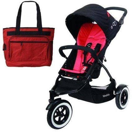 6900da1f6ce Deal product Phil Teds DOT buggy Stroller with Diaper Bag - Chili