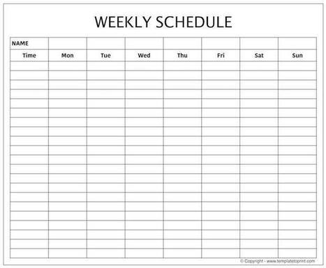 Weekly Schedule Pdf In Printable Calendar Scoop It