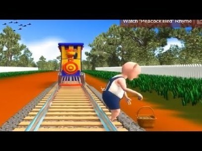 """Piggy on the railway line. Picking up the stones. Down came the engine, And broke Piggy's bones. """"Ah!"""" said the Piggy, """"That's not fair"""". """"Oh!"""" said the engine driver, """"I don't care."""" - Jakas.in -S...   Educational Videos & Games for Kids   Scoop.it"""