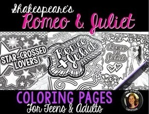 Romeo & Juliet Shakespeare Coloring Pages   Resources for Teachers   Scoop.it
