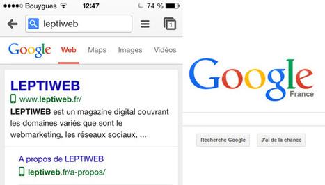 Google met en avant les sites mobile / responsive dans ses résultats de recherche - LEPTIWEB   Web, E-tourisme & Co   Scoop.it