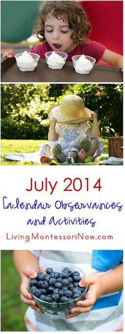 July 2014 Calendar Observances and Activities | Montessori Inspired | Scoop.it