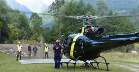L'hélico pour les travaux de la base d'Agos | Vallée d'Aure - Pyrénées | Scoop.it