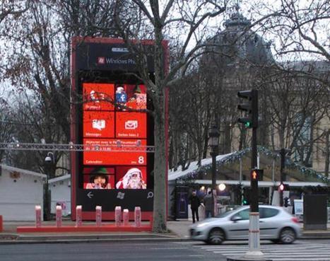 10 meter Windows Phone erected in Paris   Microsoft   Scoop.it