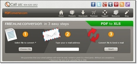 Convertir des fichiers PDF en Excel (.xls) en ligne : 5 sites gratuits | netnavig | Scoop.it