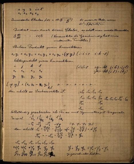 Einstein's Zurich Notebook | Science & Knowledge | Scoop.it