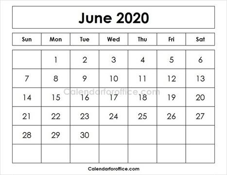 2020 June Calendar' in Calendar for office   Scoop it