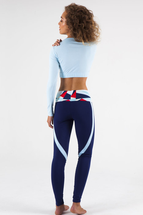Pantalon legging yoga femme imprimé Le Dramont  7a838904740