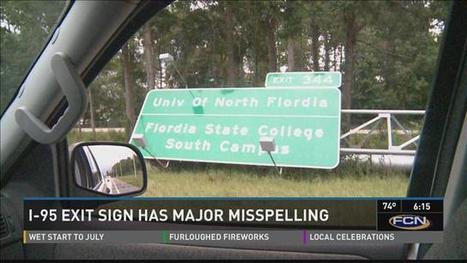 "Oops: Florida colleges I-95 exit sign misspells ""Flordia"" twice 