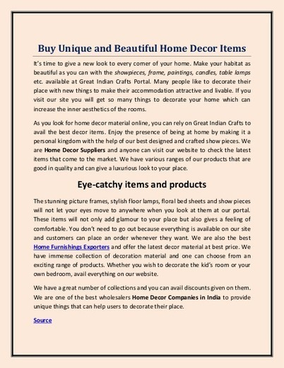 Home Decor Online Shopping India For Best Home
